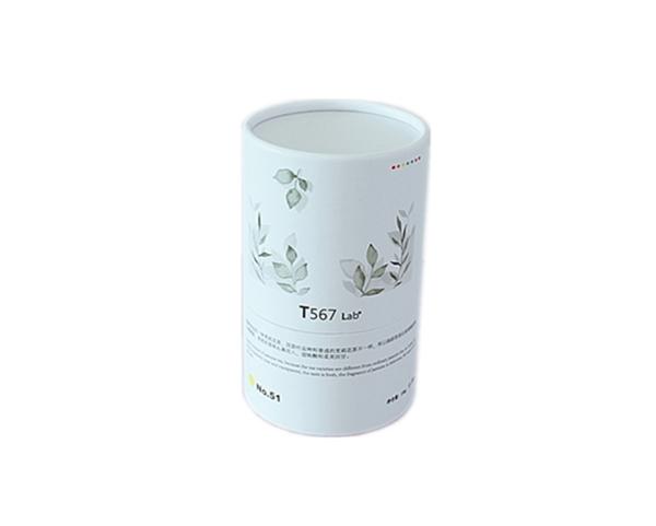 厂家定制绿研250g过毛尖茉莉花茶叶筒 内径77外径81高130mm纸筒