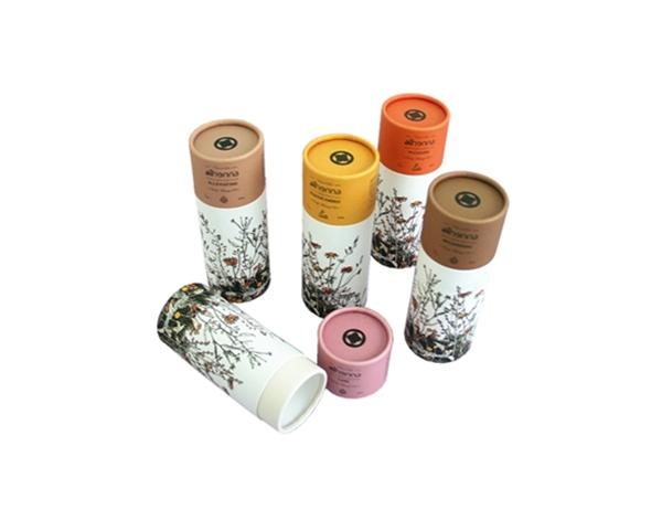 厂家定制精油高档内部白卡外部特种纸圆筒盒化妆品眼睫毛圆筒盒